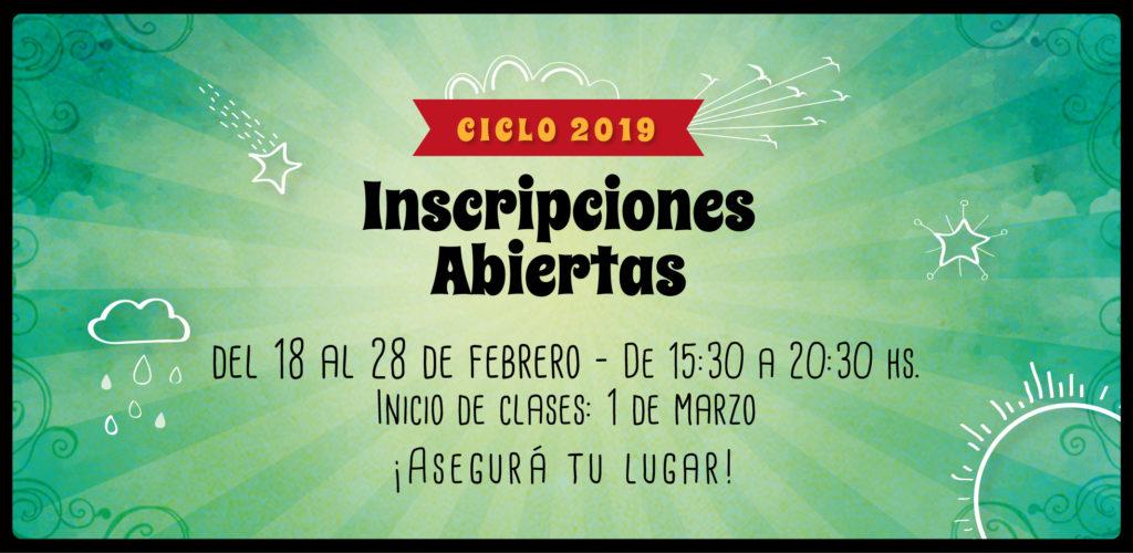 Inscripciones 2019 abiertas!